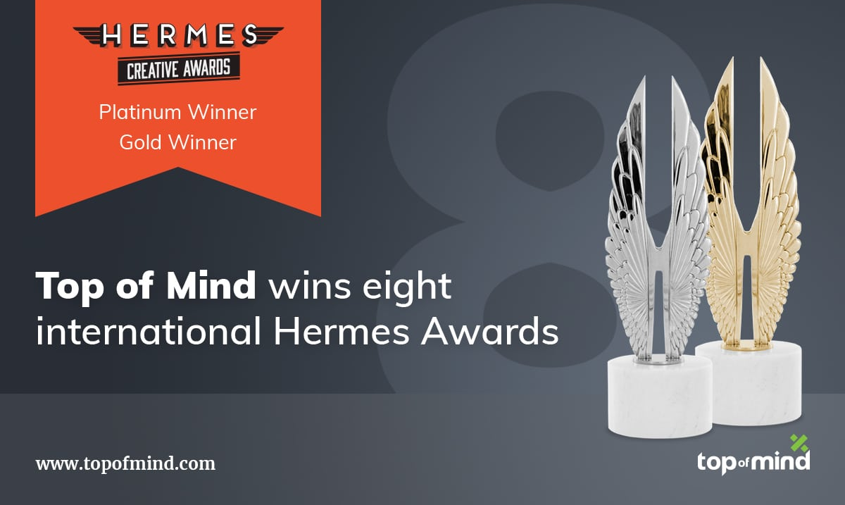 Top of Mind Wins Eight International Hermes Awards for SurefireCRM's Creative Videos That Help Mortgage Lenders Engage Prospects and Customers