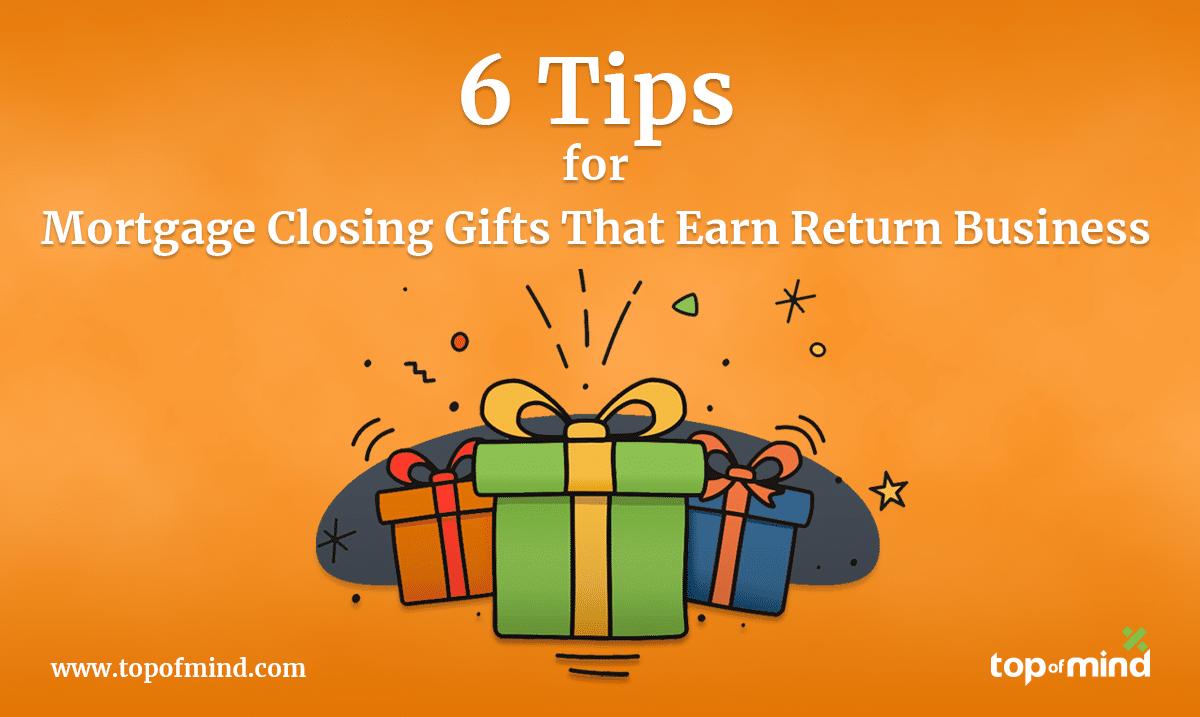mortgage closing gifts